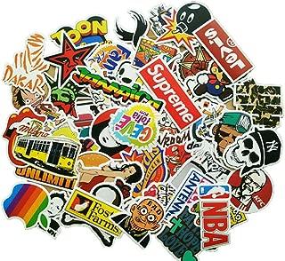 Eposeedor 50 Pegatinas Coche, Graffiti Stickers en Vinilo Coche, Pegatinas Moto, Skateboard, Portátil Ordenador, Habitación, Bicicleta, Guitarra, Casco Moto, Maleta, Vaso