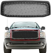 PARTS-DIYER Black Steel Mesh Replacement Front Bumper Grill Grille Hood Fits 2006-2008 Dodge RAM 1500/2006-2009 Doge RAM 2500/3500