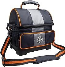Klein 55601 soğutucu çanta, kumaş, siyah-gri ve turuncu süslemeli