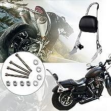 Triclicks Sissy Bar Respaldo de Pasajero para Motocicleta, Cromo para Harley Davidson Sportster XL 883 1200 Iron Custom NIGHTSTER Super Low Roadster Seventy Two Forty Eight 48 72 DAL 2004-2016