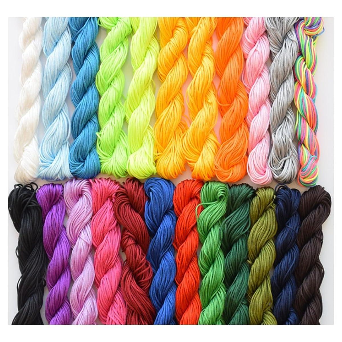 Hand Knit Cord 1mm Nylon Macrame Chinese Knotting Cord Shamballa Ratail Bracelet Thread String 20PCS