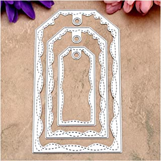 Sizzix Framelits 661561 Rectangles Dotted Die Cutting Stencil Set