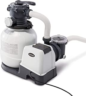Intex Krystal Clear Sand Filter Pump for Above Ground Pools, 12-inch, 110-120V with GFCI