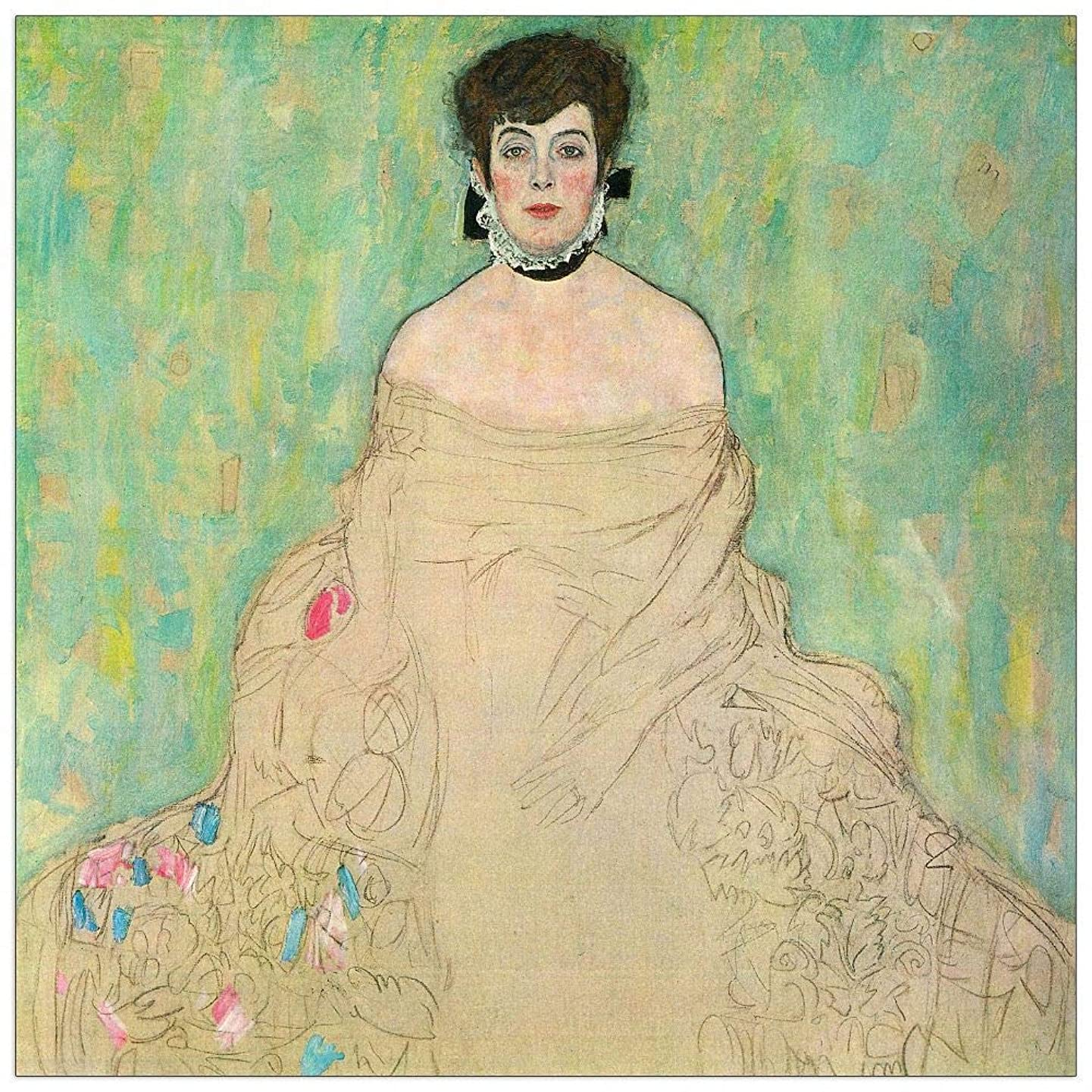 ArtPlaza TW90412 Klimt Gustav - Portrait of Amalie Zuckerkandl Decorative Panel 15.5x15.5 Inch Multicolored
