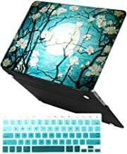 MacBook Air 13 Inch Case (Release 2010-2017 Older Version),iCasso Rubber Coated Soft Touch Hard Case with Keyboard Cover Only Compatible MacBook Air 13 Inch (Model:A1369/A1466), Cherry Blossom