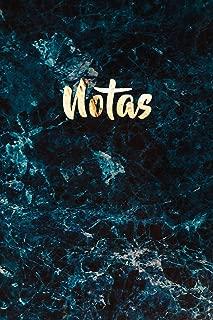 Notas: Mármol Azul y Cuaderno de Oro Brillante   Bonito Diario de Mármol para Escribir   Elegante Cuaderno blanco con Líneas para Escribir (Cuaderno Rayas) (Spanish Edition)