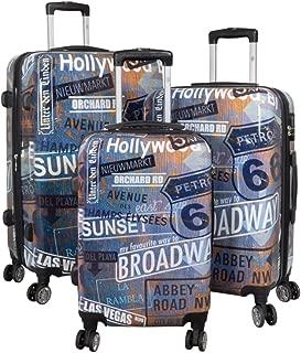 Valise de voyage QTC Londres Coque rigide valise Voyage Trolley Case Valises M L XL
