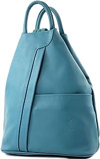 modamoda de - T180 - ital Damen Rucksack Tasche Nappaleder