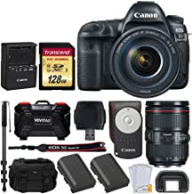 Canon EOS 5D Mark IV DSLR Camera + EF 24-105mm f/4L is II USM Lens + Transcend 128GB SDXC Memory Card + Canon RC-6 Wireless Remote + Canon Battery Pack LP-E6N + DC59 Gadget Bag + Accessories