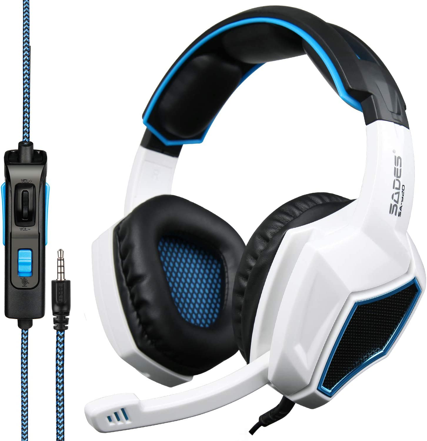 Sades SA920 3.5mm Wired Award Stereo Gaming with Over Ear Micr Headset cheap