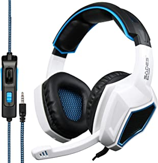 SADES Latest Version Ps4 Headphones,Sades SA920 3.5mm Stereo Bass Gaming Headset with Microphone for New Xbox one PS4 PC L...