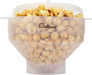 Original Salbree Microwave Popcorn Popper, Silicone Popcorn Maker, Collapsible Bowl BPA Free - 18 Colors Available (Transp...