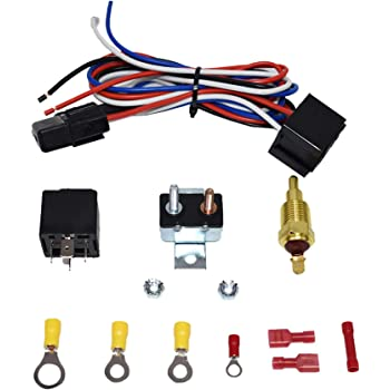 A Team Performance Electric Cooling Radiator Fan Relay Kit With Thermostat Installation Hardware Wiring Set 180 To 200 Degrees Temp Sensor Temperature