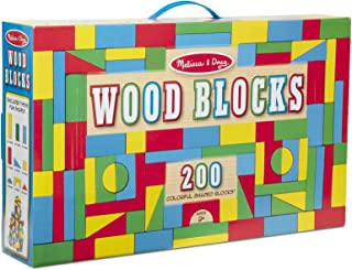 Melissa & Doug 200-Piece Wood Blocks Set