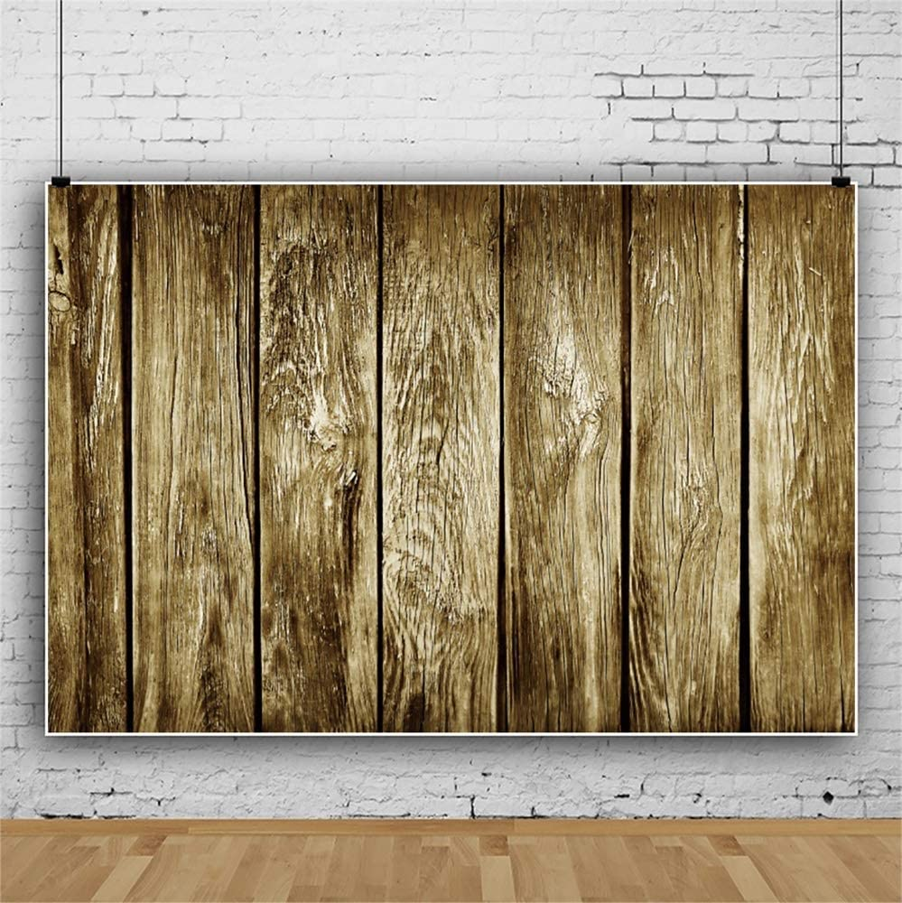 Leowefowa Shabby Grunge Vertical Striped Wood Plank Backdrop 12x8ft Retro Wood Board Photography Background Child Adult Portrait Shoot Photo Booth Event Party Banner Studio Props