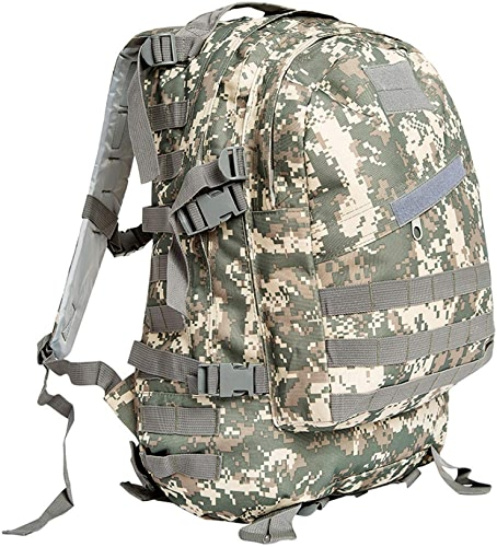 Fishroll Sac à Dos léger, Qualité imperméable Oxford Alpinisme Sac Hommes Camouflage Tactique en Plein Air 3D Sports sac à dos Upgrade