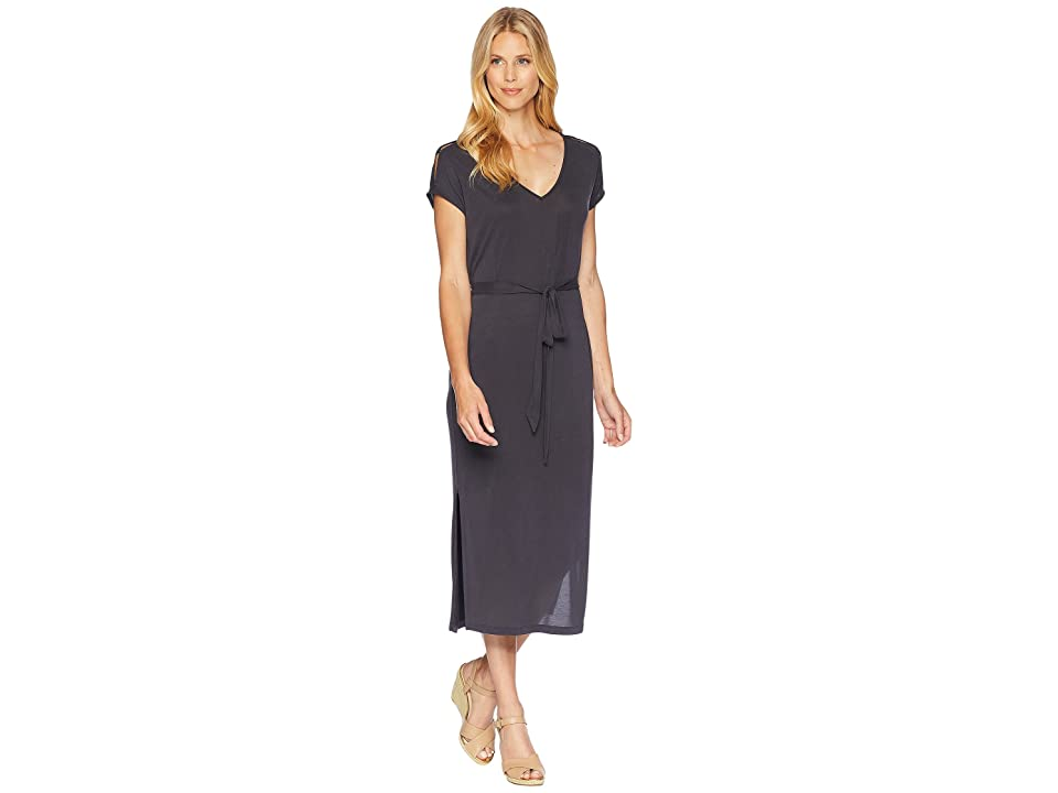Lucky Brand Button Sleeve Knit Dress (Lucky Black) Women