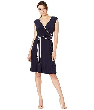 LAUREN Ralph Lauren Taevon Two-Tone Dress (Lighthouse Navy/Lauren White) Women