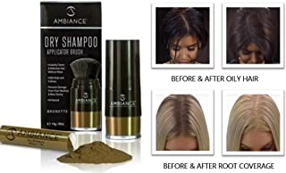 Ambiance Dry Shampoo (Brunette) Combo Pack–Refreshes, Conceals Roots & Volumizes. Absorbs Oil to Clean Hair, Boosting Body & Shine. Covers Roots Between Colorings.Adds Fullness for Hair Types.