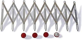 Simflex HSG10015 Jauge de Couture Extensible, Métal, Argenté, 7,5 x 0,4 x 15,5 cm