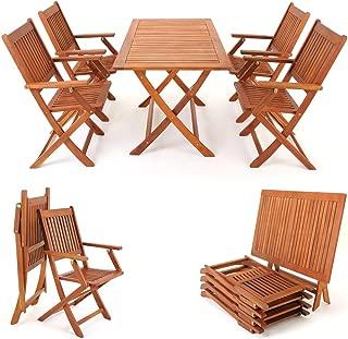 4 Pièces mojawo ® chaise de jardin chaise de bistro empilable stable Aluminium Lot chaise