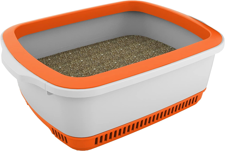 Cateco SelfDrying Litter Box, orange, 21.75  x 16.5  x 7.9
