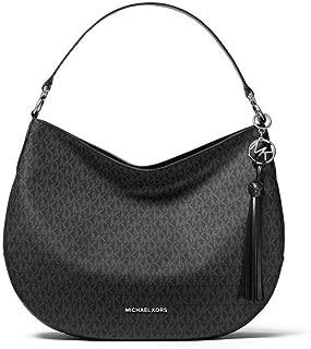 MICHAEL Michael Kors Brooke Large Logo Shoulder Bag in Black