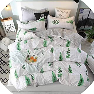 Bedspreads Yellow King Bed Quilt Cover Queen Size Bedding Covers Cartoon Kids Bed Linen Single for Children Double Bedding Sets,217,Twin 4Pcs,Flat Bed Sheet