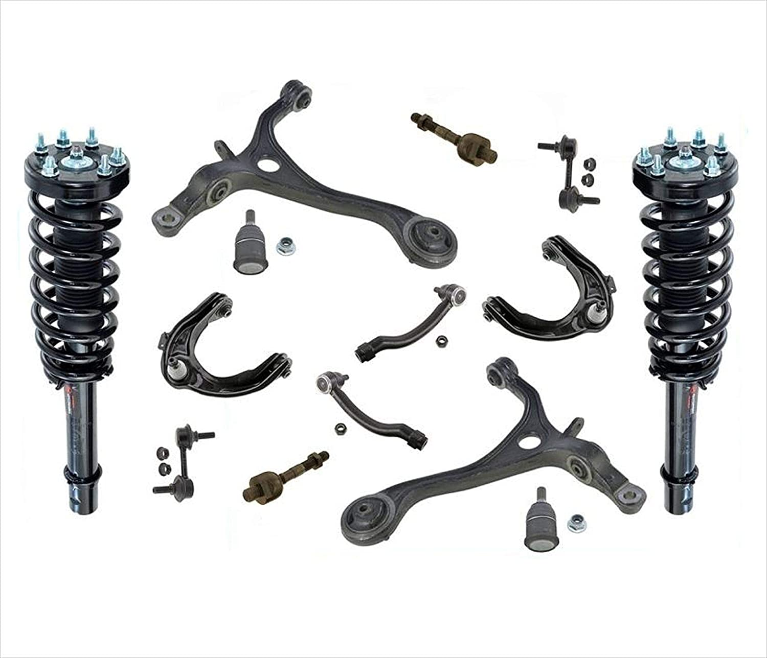 Front Struts 直送商品 Upper Lower Control 販売期間 限定のお得なタイムセール Arms Tie BJ Links Rods For