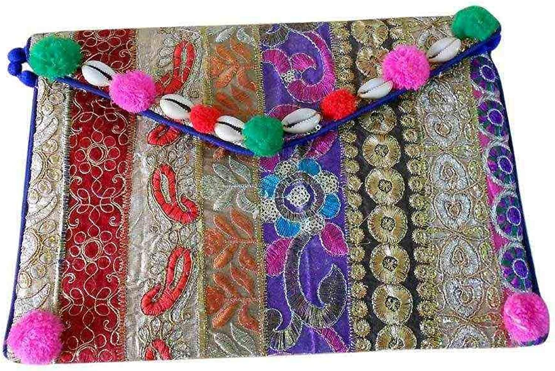 Wholesale 50 pc lot Bulk Indian Vintage Hand Bag Traditional Bridal Clutch Beaded Shoulder Bag potli Pouch Hand Bag Purses Women Purse by Craft place-19
