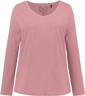 ULLA POPKEN Basic-Shirt, V-Ausschnitt, Slim, Baumwolle Maglietta a Maniche Lunghe Donna
