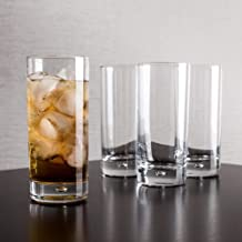 Highball Glasses Set of 4 - Lead-Free Crystal Clear Drinking Glasses, Elegant Glass Cups with Bubble for Water, Wine, Beer...