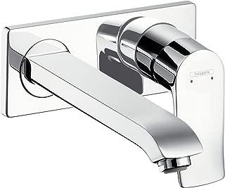 hansgrohe Metris wall-mounted basin mixer tap, 165 mm spout, chrome