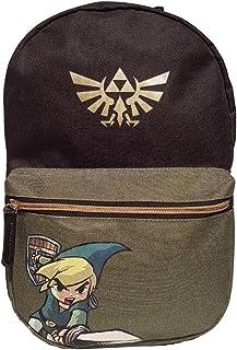 Legend Of Zelda Legend Of Zelda Black Woods Boys Backpack, Unisex, Black/Green Mochila infantil 41 centimeters 20 Verde (Green)