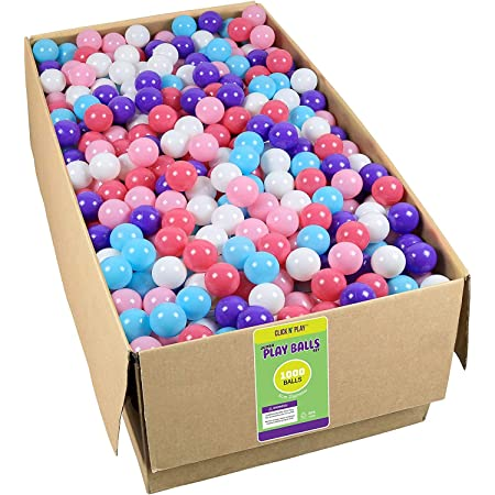 Click N' Play Plastic Ball Phthalate Free Bpa Free Crush Proof Pit Balls 5 Pretty Feminine Colors (Bulk Pack of 1000 Balls)