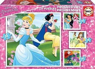 Educa Borrás - 17166 - Puzzle Progressif Disney Princesses (12-16-20-25 Pcs)