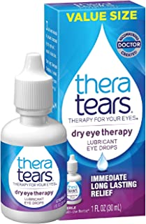 TheraTears Eye Drops for Dry Eyes, Dry Eye Therapy Lubricant Eyedrops, Provides Long Lasting Relief, 30 mL, 1 Fl Oz (Pack ...