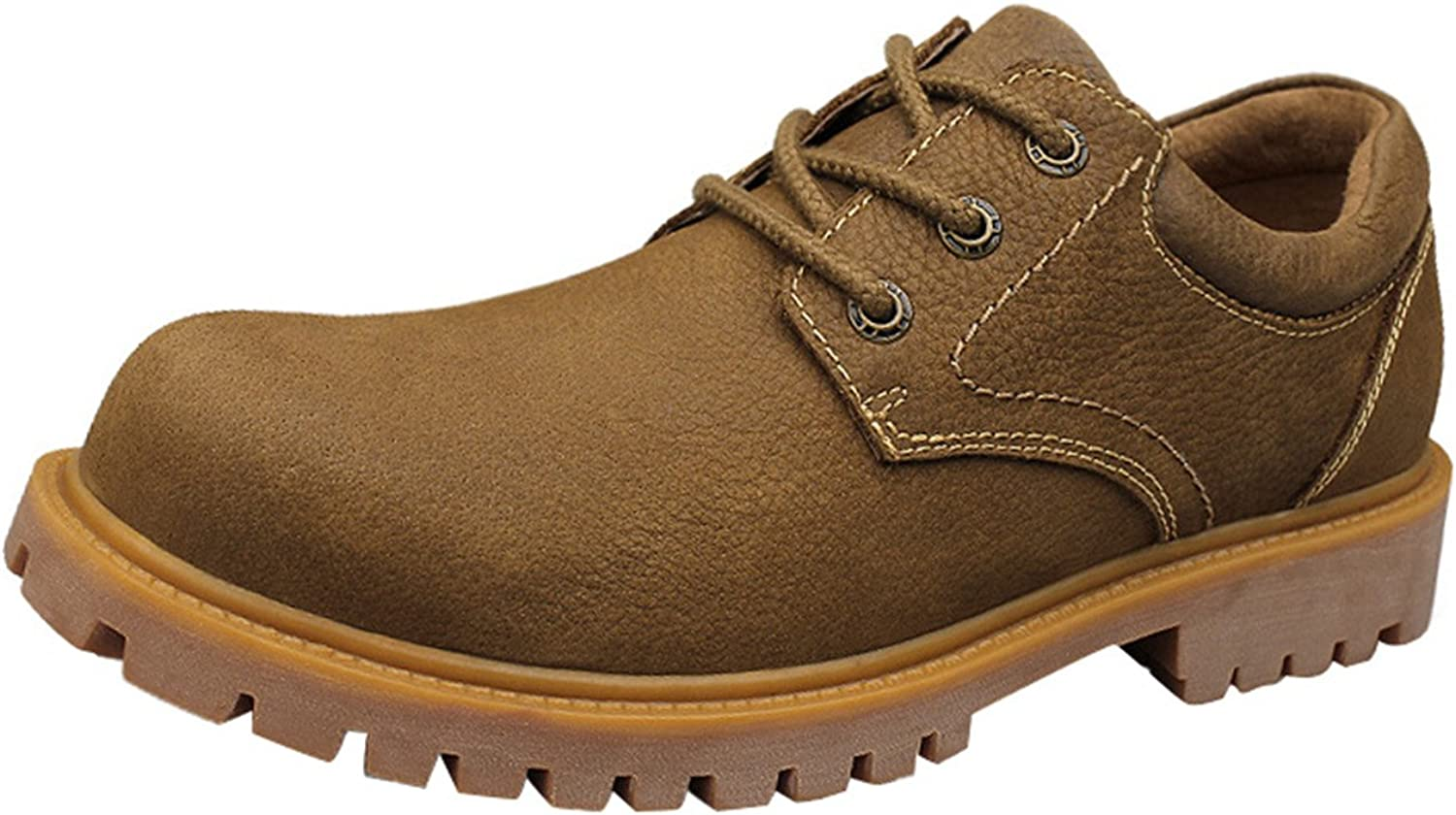 LIVEINU Men's Shelter Plain-Toe Oxford Leater shoes