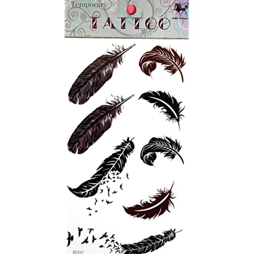 f6991d8c4 GGSELL GGSELL KING HORSE hot selling New design birds and feathers  temporary tattoo stckers