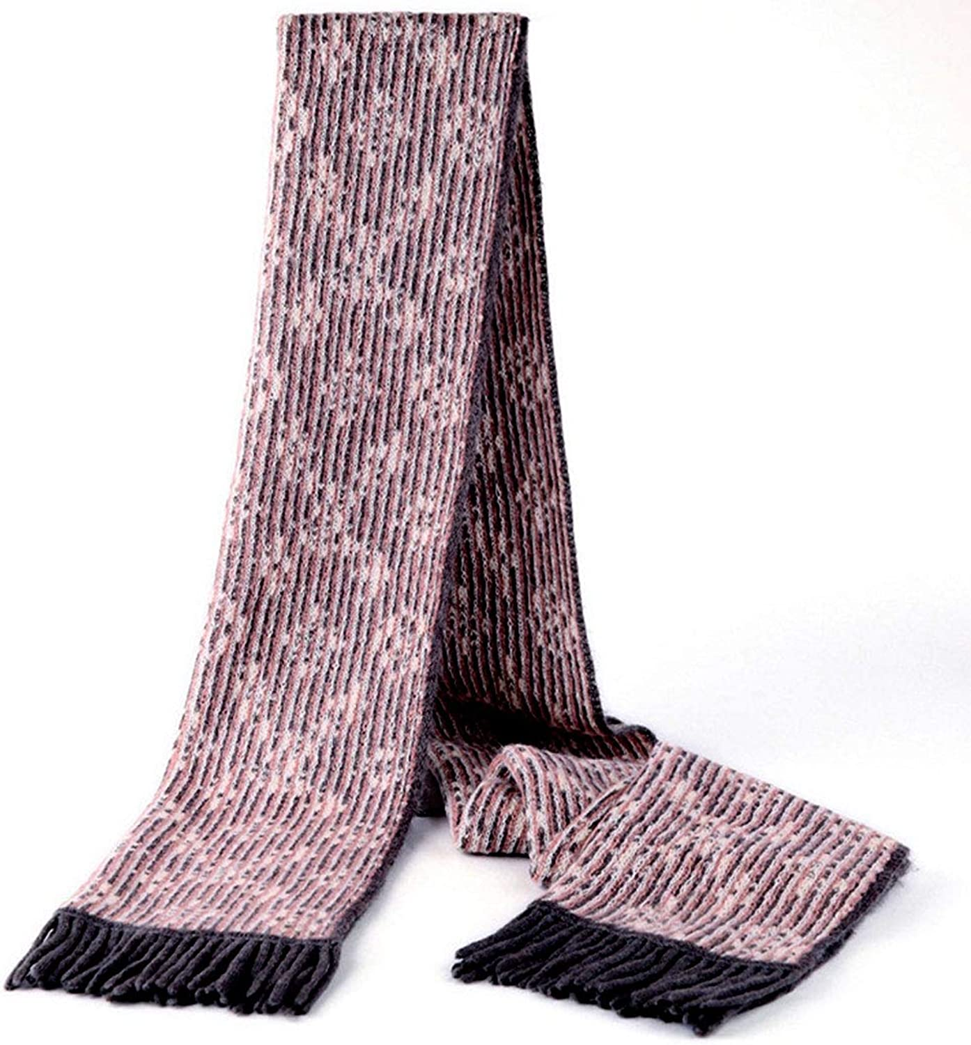 HUIFANG Spring and Autumn and Winter New Ladies Scarf Wool Scarf Long Section Korean Version of The Wild Thick Warm Tassels Shoulder Collar 30  180cm A (color   Pink, Size   30  180cm)