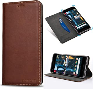 KEZiHOME Pixel 2 Case Wallet,Google Pixel 2 Wallet Case, Genuine Leather Premium Google Pixel 2 Case with Stand Feature and Credit Card Slot Full Protection Case for Google Pixel 2 5.0