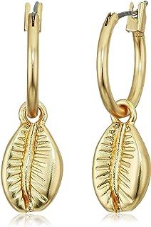Lucky Brand Shell Huggie Earrings