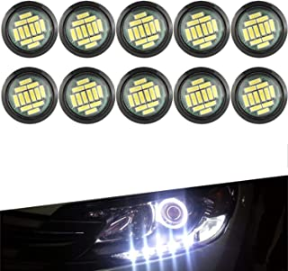 YUK 10 White DC 12V 15W Eagle Eye Waterproof Underglow LED Neon Trail Rig Lights for Car Truck ATV UTV Raptor Offroad Boat Trail Rig Rock Lamp Underbody Glow Light