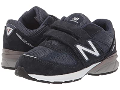 New Balance Kids 990v5 (Infant/Toddler) (Navy) Kids Shoes