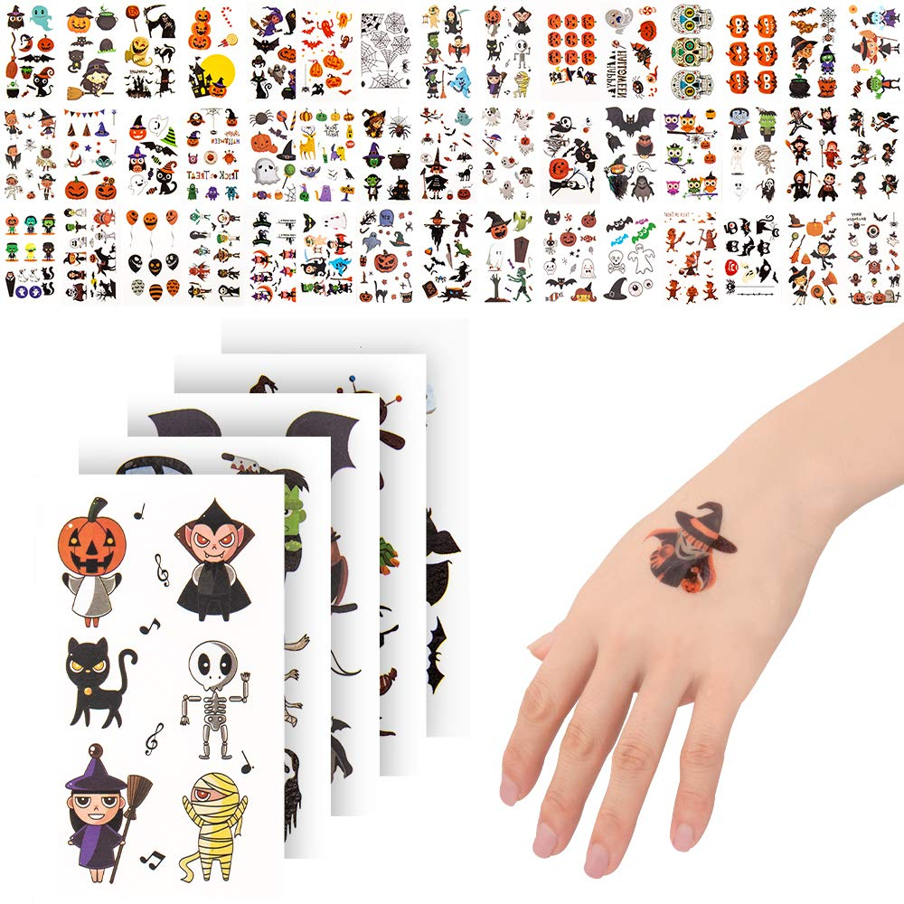 400 Halloween Temporary Tattoos Non-Toxic Animer and price revision Stickers List price for Kids
