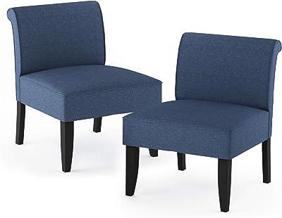 FURINNO Belfort Slipper Chair, Denim
