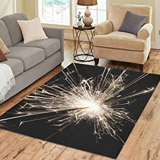 Love Nature Sweet Home Stores Collection Custom Black Light Area Rug 7'x5' Indoor Soft Carpet