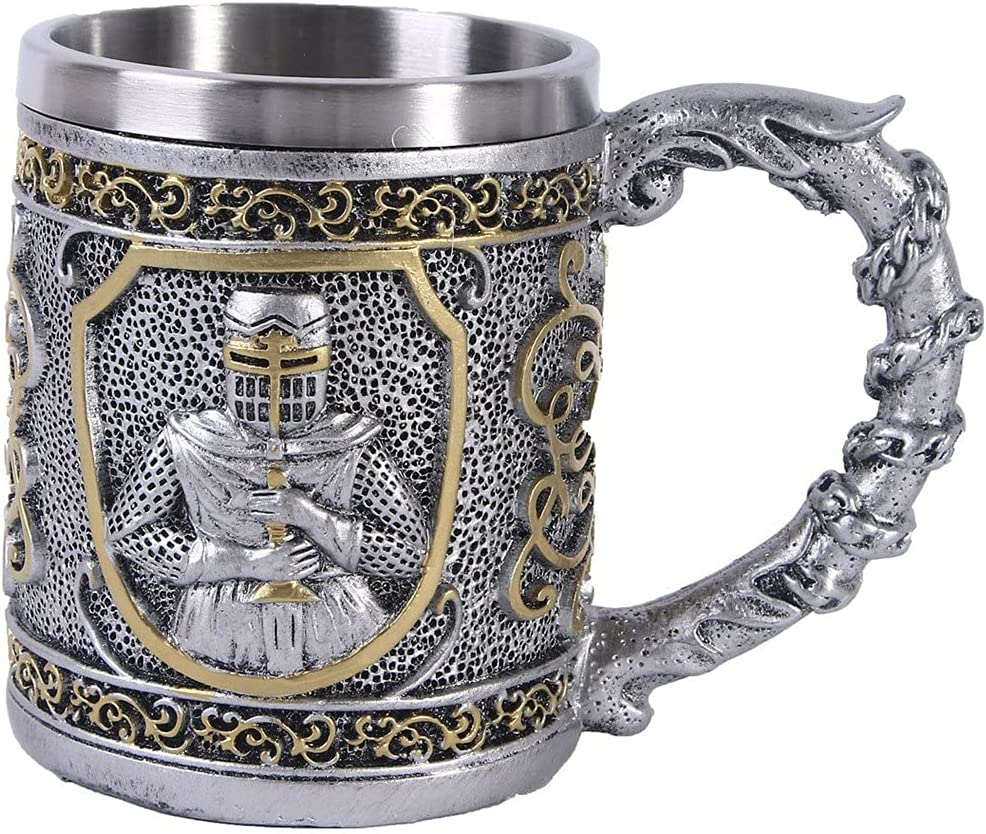 Medieval Vintage Palace Goblet Super-cheap V Tulsa Mall Armoured Knight