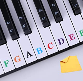 Piano Stickers for Keys, Removable Piano Keyboard Stickers f