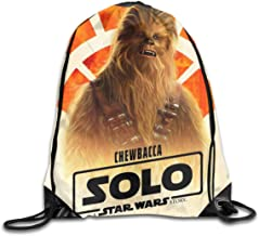 Che-wbacca Drawstring Bag Backpack Sackpack String Bag Cinch Lightweight Beach Bag For Gym Shopping Sport Yoga,White,